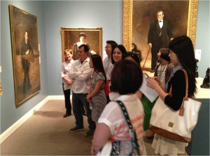Medical students digging deep into art at Stanford's Cantor Art Museum.
