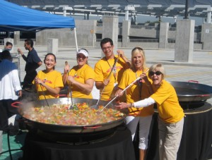 VMCF Staff Making Paella