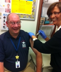 Chris Wilder Flu Shot 2013